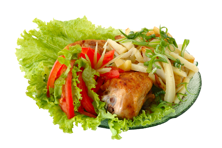 bigstockphoto_Fried_Chicken_And_Potato_3024563